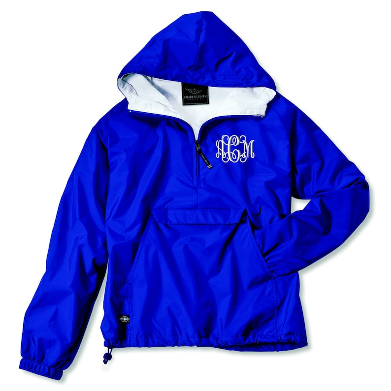 Monogram Pullover Rain Jacket With Pockets  Embroidered. image 0