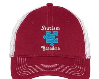 Autism Grandma  Mesh Back Hat.  Baseball Hat - Mesh Back.   Trucker Hat. DT607