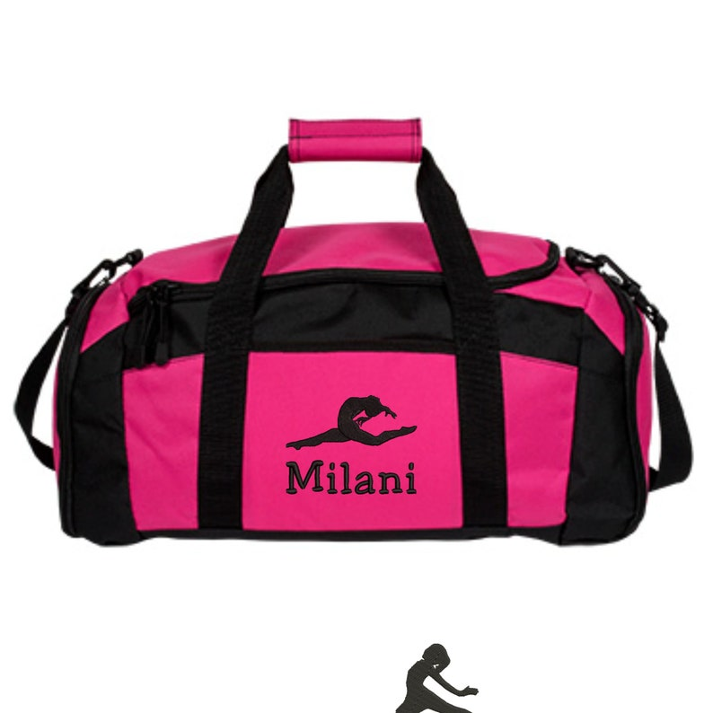 c33d3ce21e9d Personalized Dance Duffle Bag For Girls - Embroidered. Customized Dance Gym  Bag. Dance Bags. Dance Class Gifts. Gym 3 - SM-BG970