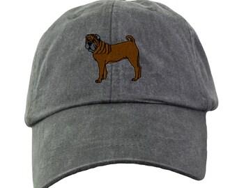 Shar Pei Baseball Hat - Embroidered. Shar Pei Mom Baseball Hat Cap. Shar Pei Dad Baseball Hat. Shar Pei Gifts. Shar Pei Mom Gifts. LP101