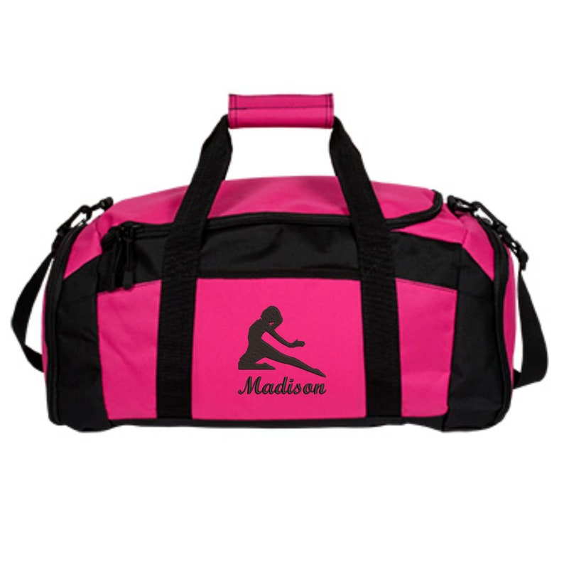 Personalized Dance Duffle Bag For Girls Embroidered.  4519b0f6d6554