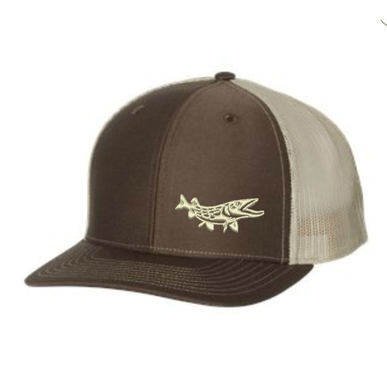 c64e49bbf Pike Fishing Hat - Embroidered. Pike Fishing Trucker Hat. Outdoors Fishing  Cap. Pike Snapback Hat. Wildlife Hat. SS-112