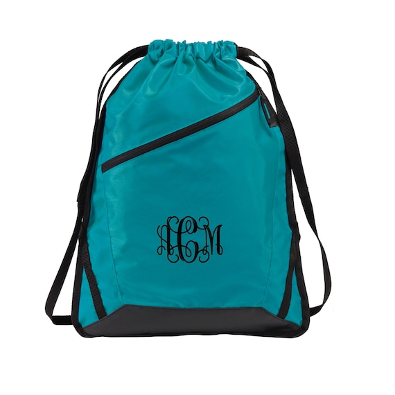 Monogrammed Backpack Personalized Drawstring Backpack Embroidered 8881 Monogrammed Drawstring Bag Personalized Drawstring Bag