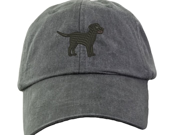 Black Labrador Retriever Baseball Hat - Embroidered. Lab Mom Baseball Hat. Lab Dad Hat. Labrador Hats.  Labrador Gifts. Black Lab. HER-LP101