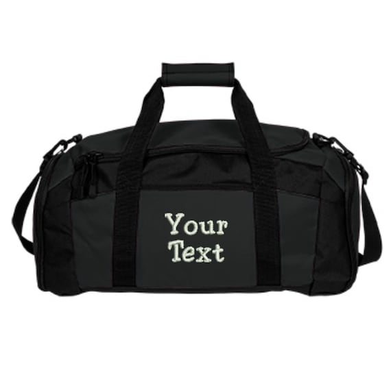 Custom Text Duffle Bag Embroidered. Personalized Text Gym   Etsy f4f1a7b6ba