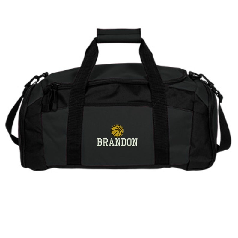 Personalized Basketball Duffle Bag Embroidered. Customized