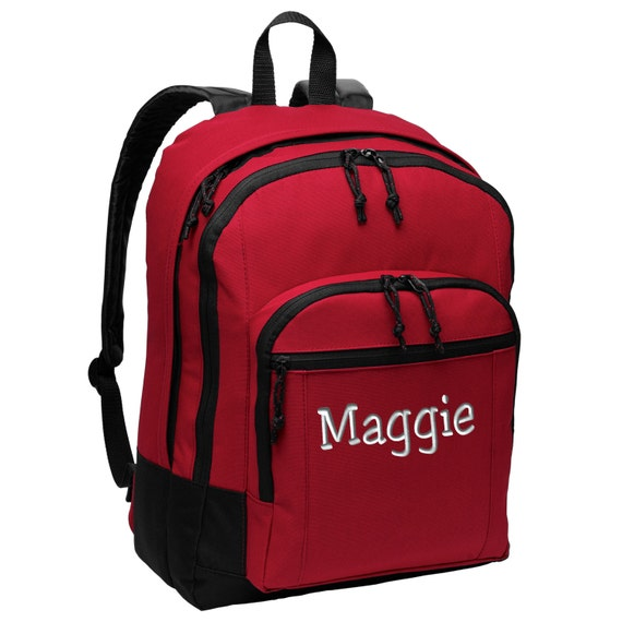 b96481857 Personalized Backpack - Embroidered. Custom Embroidered Backpack. School  College Backpack. Customized Basic Backpack. SM-BG204