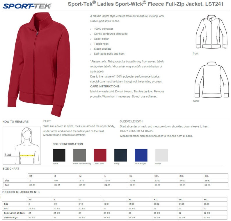 RN1A Nurse Zip Up Jacket With Pockets Embroidered Personalized RN Nurse Full Zip Jacket Custom RN Nurse Jacket With Pockets LST241