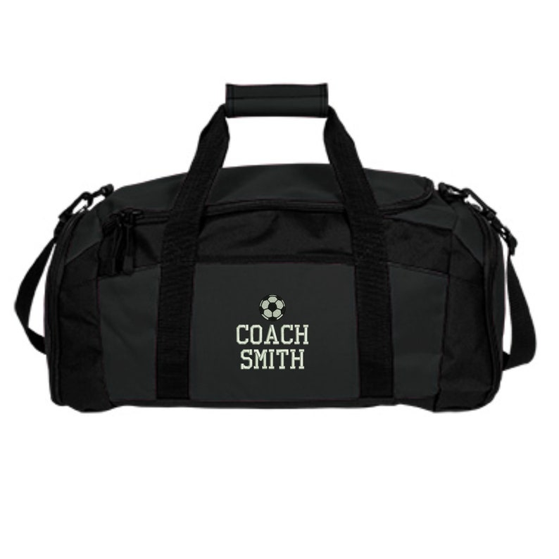c88abab9e Personalized Soccer Coach Duffel Gym Bag Embroidered. Soccer | Etsy