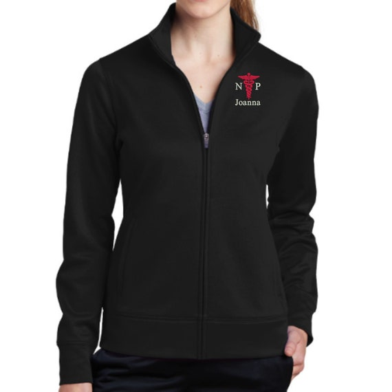 Why Not Stop N Shop RN Nurse Full Zip Jacket with Pockets