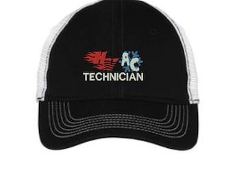 HVAC Technician Mesh Back Hat.   - Baseball Mesh Back. Trucker Hat. Trucker Hat. DT607
