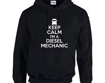 Keep Calm I'm A Diesel Mechanic Mens Hoodie