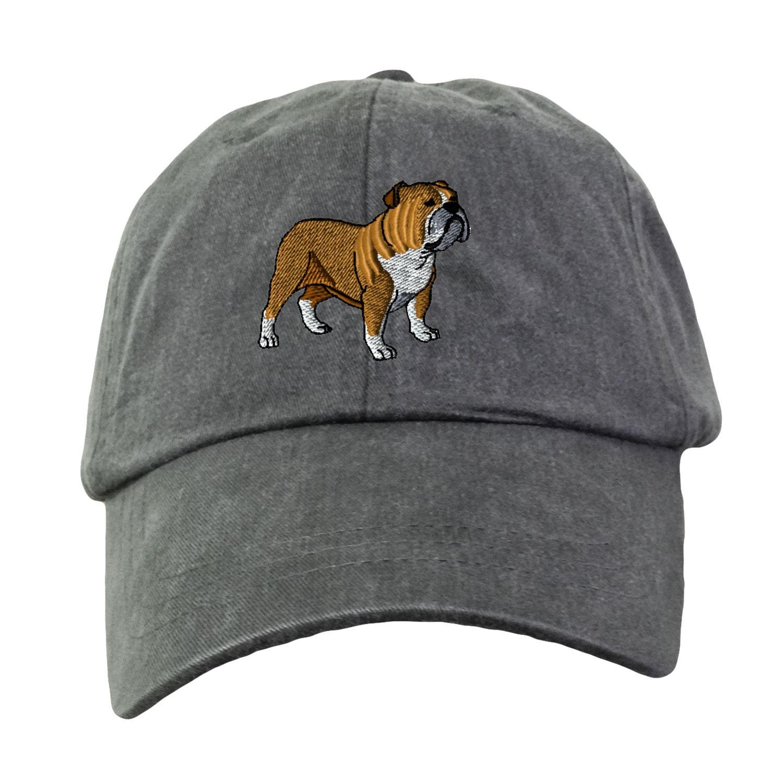 Bulldog Baseball Hat Embroidered. Bulldog Mom Hat. Bulldog  7f69ca83fee