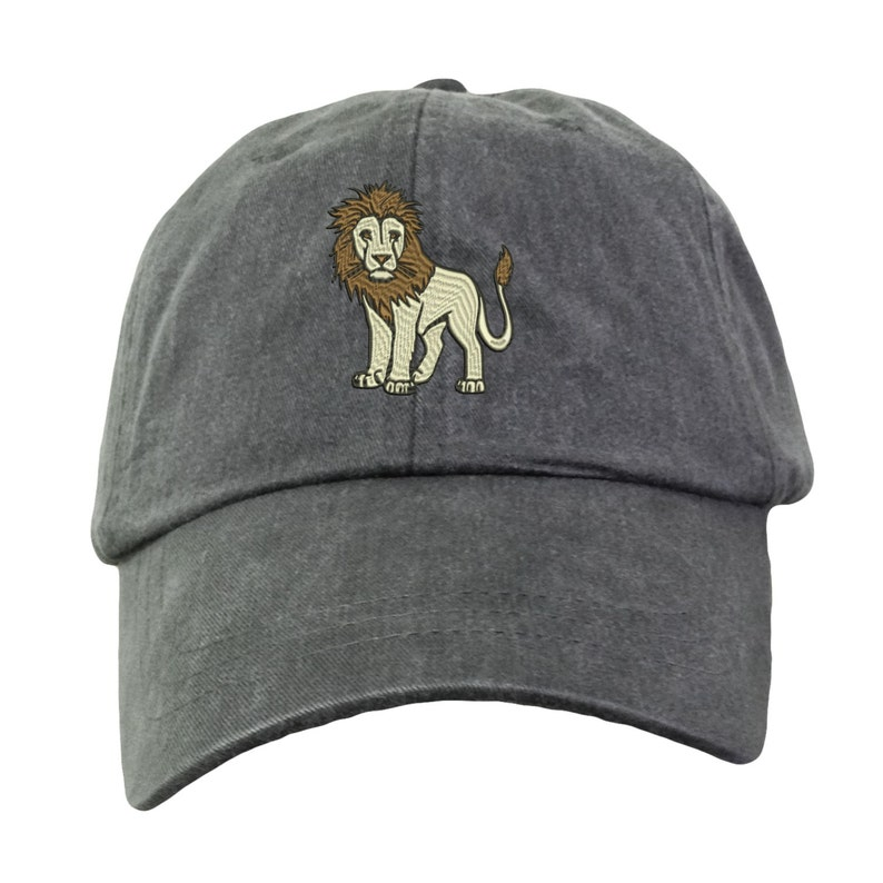 081e04e2b3582 Lion Hat Embroidered. Lion Cap. Zoo Jungle Animal Hat. King