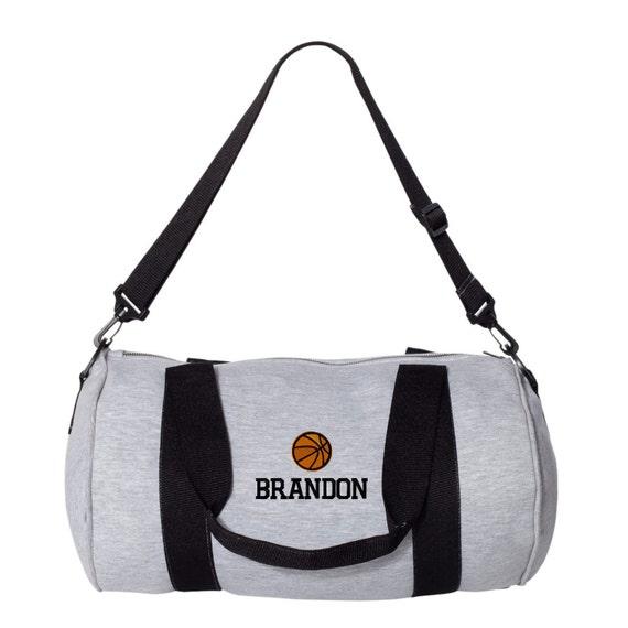 Basketball Monogrammed Gym Bag. Personalized Duffel Bag.   Etsy ea13e735d7
