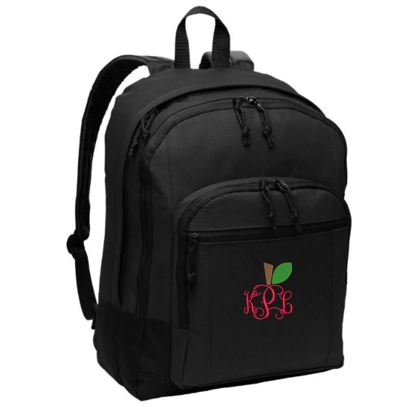Monogrammed Teacher Backpack  Embroidered.  Personalized image 0