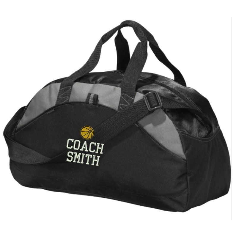 Personalized Basketball Coach Duffel Gym Bag Embroidered.