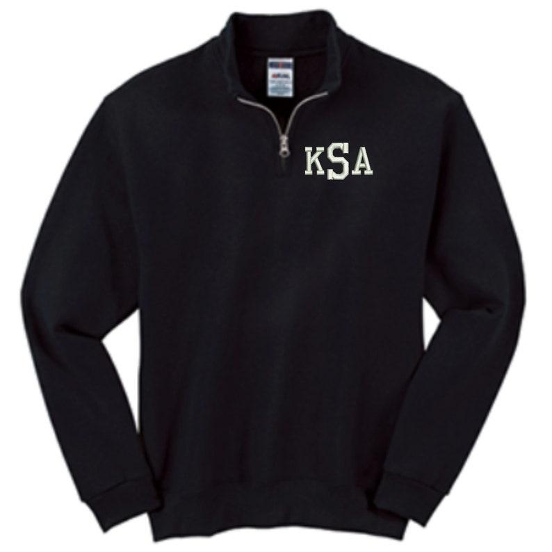 Kids Monogrammed Quarter Zip Pullover Sweatshirt  image 1