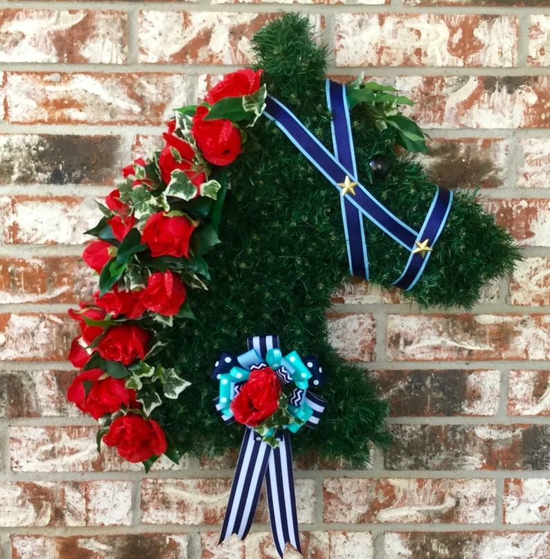 Kentucky Derby Wreaths Kentucky Derby Party Decorations Etsy