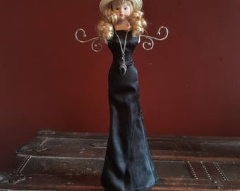 One-of-a-kind Upcycled Repurposed Creepy Doll Steampunk Art Jewelry Necklace Bracelet Holder