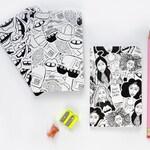 Notebook Trio | Journal | A6 Sketchbook | Blank Notebook | Blank Page Journal | Illustration Book | Stationery Set | Back To School Supplies