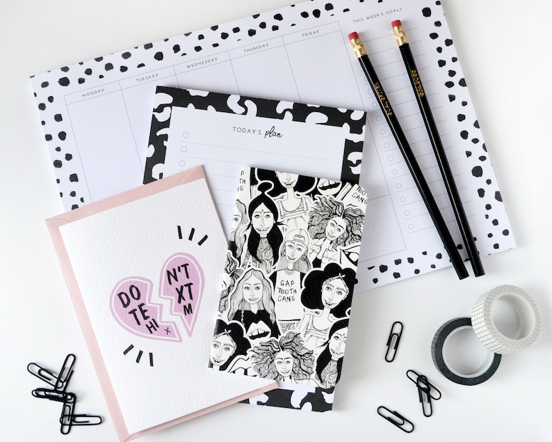 Stationery Box  Black and White  Goal Planner  Productivity image 0