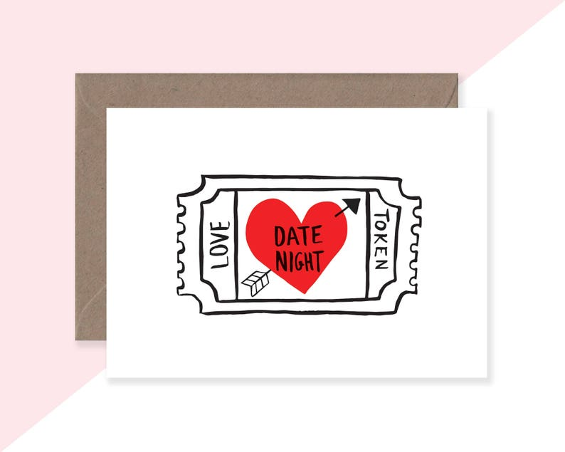 LOVE HEART  Illustrated Card  Wedding Card  Anniversary image 0