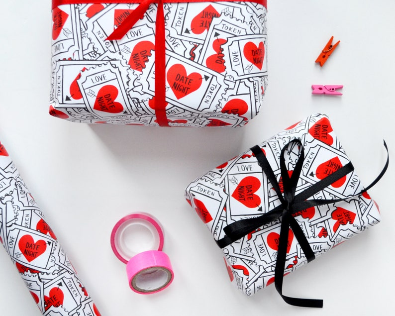 Love Heart Wrapping Paper  Valentine's Gift Wrap  image 0
