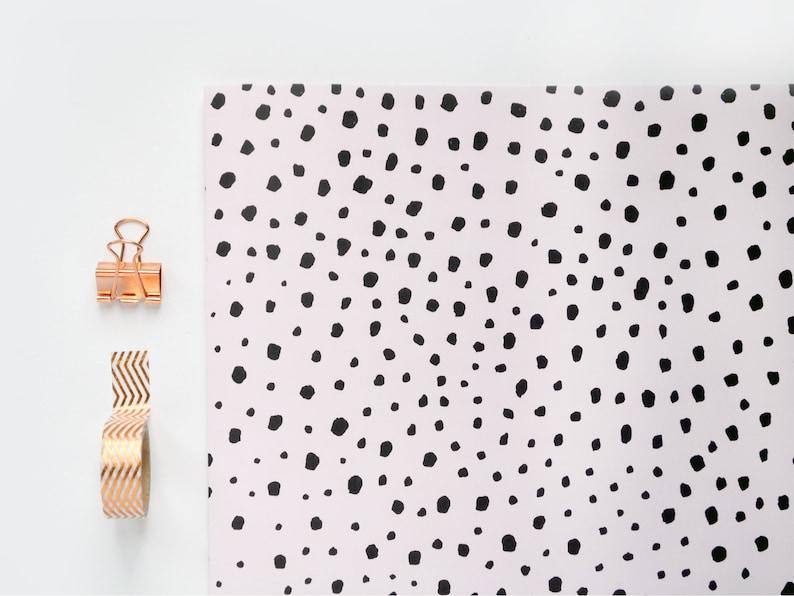Polka Dot Gift Wrap  Brushstroke Pattern  Minimal Scandi image 0