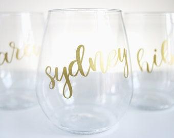 Plastic Wine Glasses Etsy