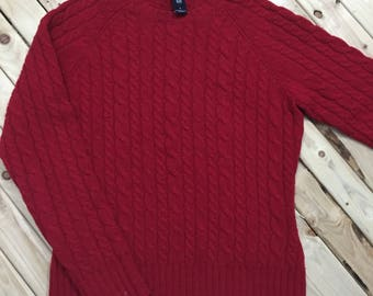 GAP Lambswool Cable Knit Sweater