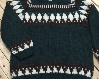 Bulky Wool Fair Isle Sweater
