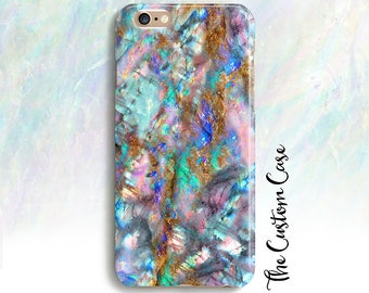 Opal Phone Case, Turquoise Pink and Turquoise Opal Stone Phone Case, Stone Phone Case, Pink and Blue Gemstone, Iphone X Case, Iphone 8