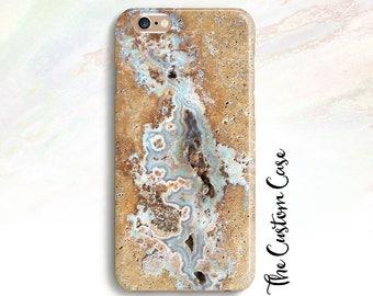 Agate Gemstone Phone Case, Blue Agate Phone Case, Aqua Geode Case,  Iphone 4/5/5c/6/6+,6S, 6S+, Galaxy S3/S4/S5/S6/S6 Edge, S6 Edge+, Note