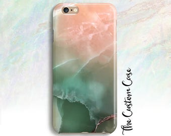 Pink Jade Phone Case, Pink and Green Jade Stone Phone Case, Pink Marble Phone Case, Soft Pastel Stone Phone Case, Jade Phone Case