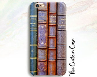 Antique Books Phone Case, Stacked Books Phone Case, Old Books Phone Case, Iphone and Samsung, Iphone 8 case, Iphone X case, Iphone 8 plus