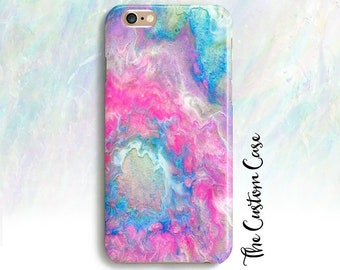 Pink Geode Phone Case, Pink and Turquoise Geode Phone Case, Agate Case, Pink Marble, Samsung Note 9 Iphone 8 Iphone XS max Iphone XS case,
