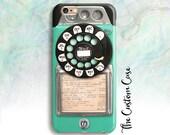 Retro Turquoise Payphone, Vintage Payphone Phone Case, Retro Mint Rotary Phone, Old Vintage Payphone, Hipster Payphone Case, Iphone, Samsung