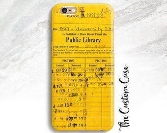 Library Due Date Card Phone Case, Book Lover Phone Case, Geekery, Iphone 8, Note 8, Iphone X, Retro Library Check Out Card, Vintage