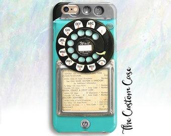 Retro Blue Payphone, Vintage Payphone Phone Case, Retro Aqua Rotary Phone, Old Vintage Payphone, Hipster Payphone Case, Iphone X Case