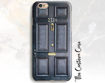 Sherlock Holmes Inspired Phone Case, Door Number 221B Phone Case, for Iphone X Case, Iphone 8 and Samsung cases