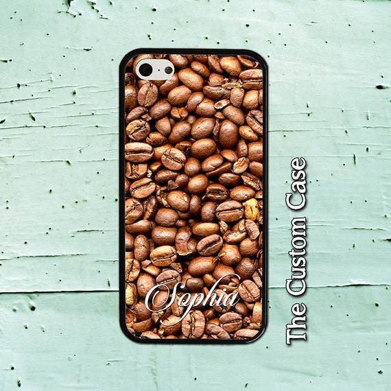 Personalized Coffee Beans Phone Case Coffee Lover Phone Case Galaxy Note 3 4 Iphone 4 5 5c 6 6 Samsung Galaxy Case S3 S4 S5 S6 6edge