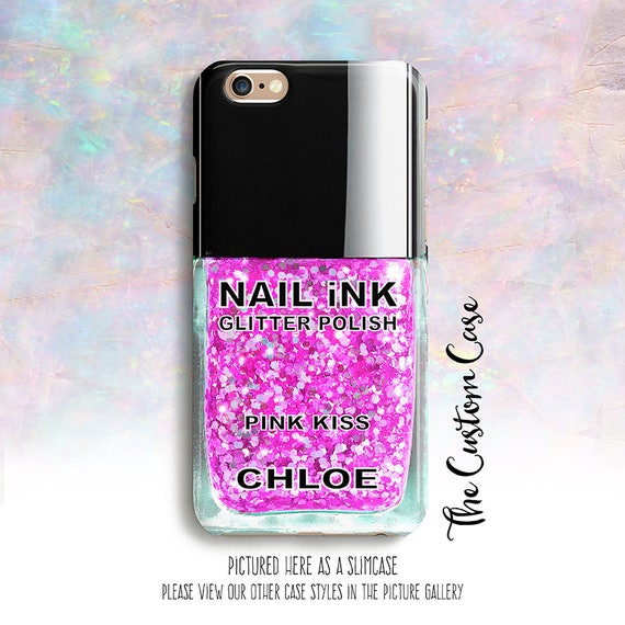 Marble Nail Polish Phone Case: Glitter Nail Polish Phone Case 12 GLITTER SPARKLE COLORS