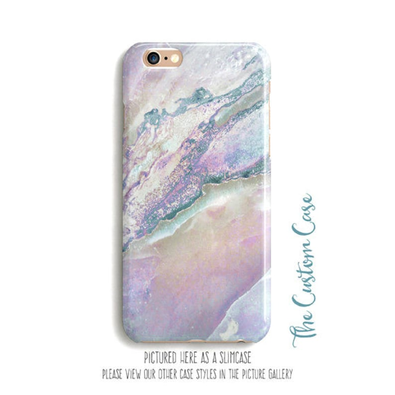 Pastel Marble Phone Case Soft Rainbow Stone Phone Case Pink  255289e53692