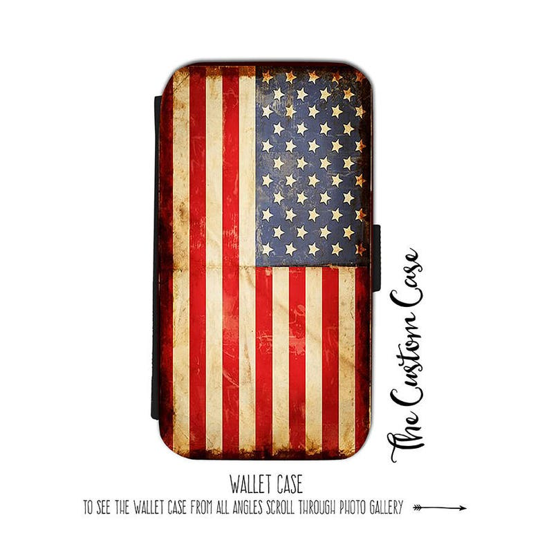07e87cda2b8 American Flag Wallet Phone Case Distressed American Flag