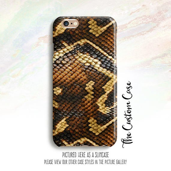 Snake Skin Phone Case  Gifts for Her  Phone Case for Iphone  Durable Protective Custom Phone Case