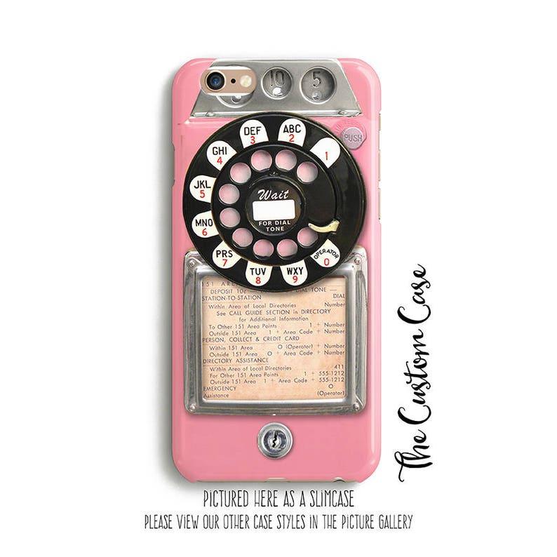 Retro Pink Payphone Vintage Payphone Phone Case Retro Pink image 0