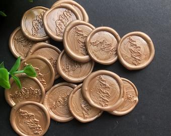 Sale!!! Rose Gold Mountain Adhesive Wax Seal- Set of 25