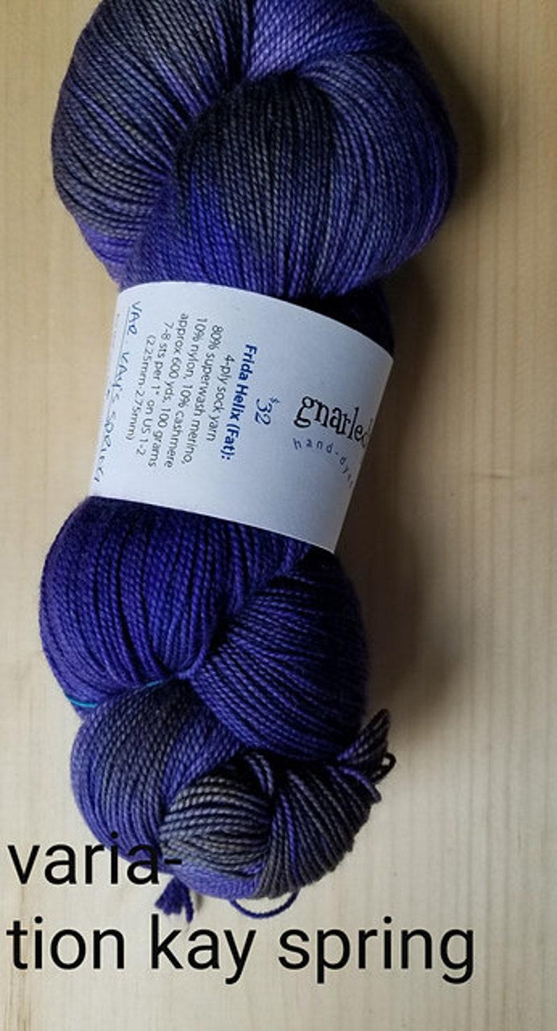 GnarledPaw large luxury hand dyed skein 150 gram skein! Destash Kay variation