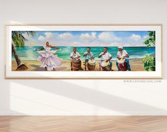 Puerto Rico Wall Art, Puerto Rico, giclee, Puerto Rico Art, Puerto Rican Art, Beach wall art